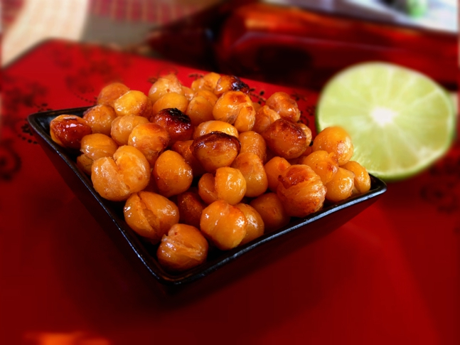 Chili-lime infused chickpeas