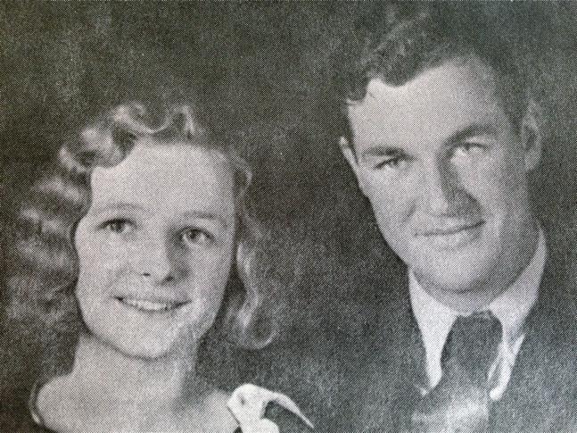 My beautiful grandparents on their wedding day 1931.