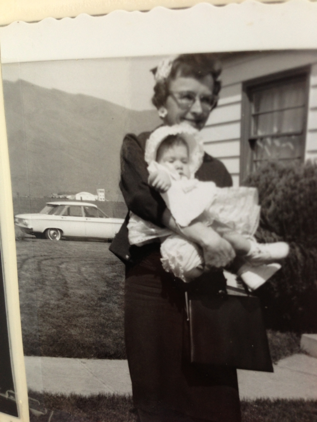 My grandmother holding me as a baby.