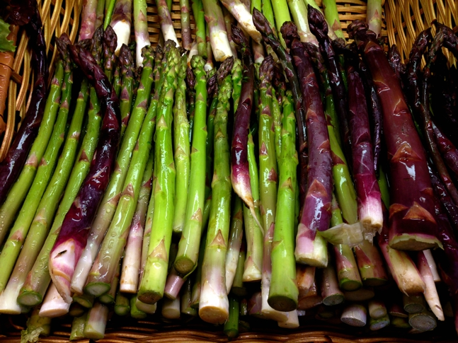 Gorgeous green & purple Asparagus.