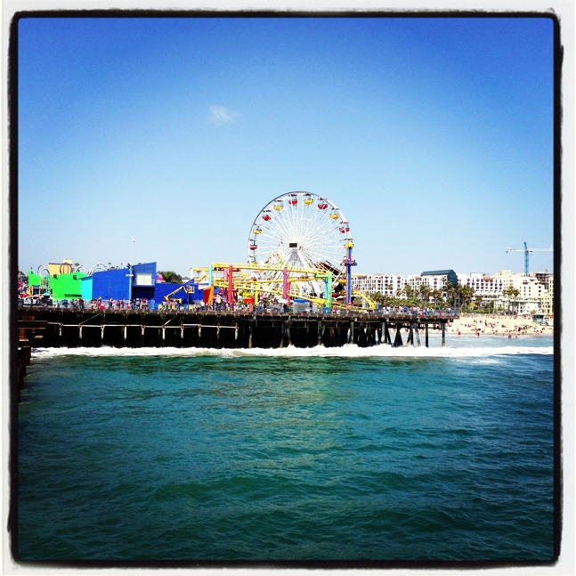 Ferris wheel on the Santa Monica Pier