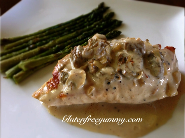 Mushroom Cream Sauce over Chicken