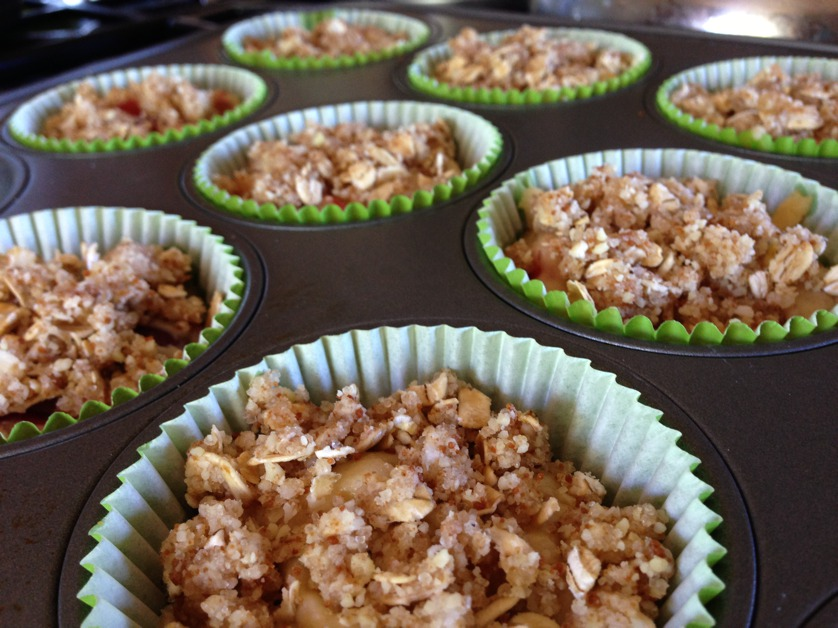 Cherry Almond Muffins with Streusel