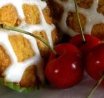 Frosted Cherry Almond Muffins