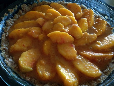 Making a gluten-free Peach Tart