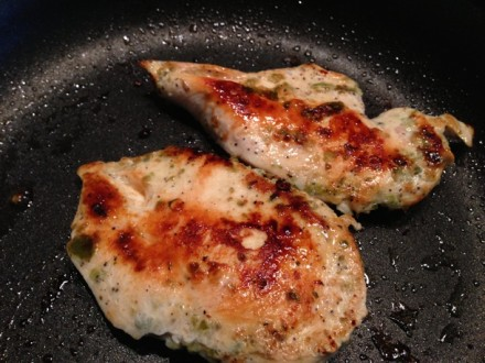Two cooked Chicken Breasts