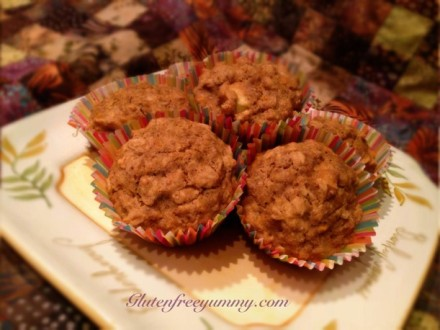 Healthy Apple-Bran Muffins (gf-df-ef)
