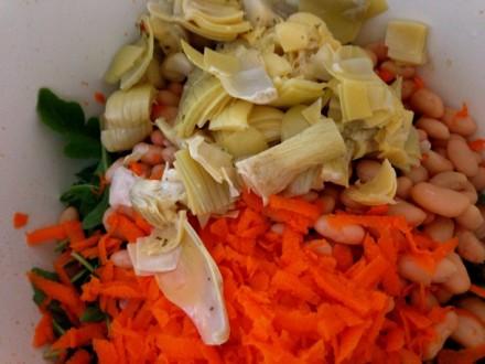 Carrots & artichoke hearts