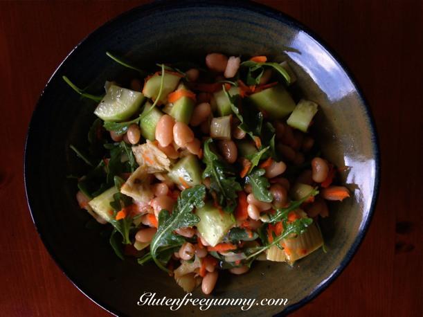 White Bean & Arugula Salad