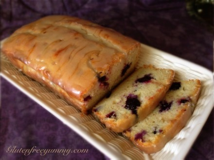 Sliced Gluten-free Lemon-Blueberry Loaf
