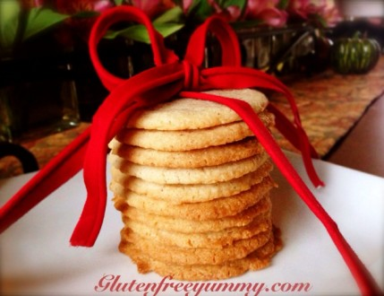 Gluten-free Chai Shortbread Cookies