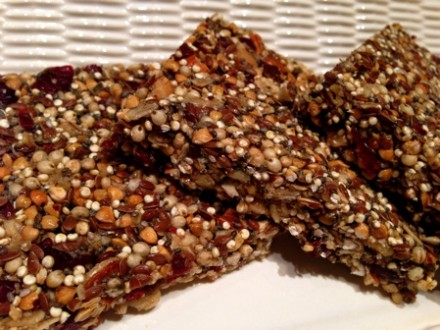Cranberry-Almond Super Grain Bars (gluten-dairy-free)