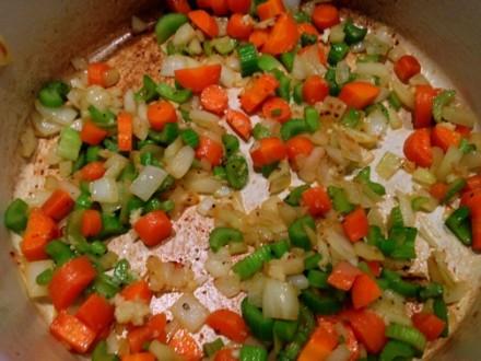 Sautéed Vegetables for Vegetable Beef Soup