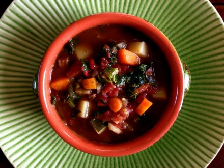 A Bowl of Savory Hearty Vegetable Beef Soup