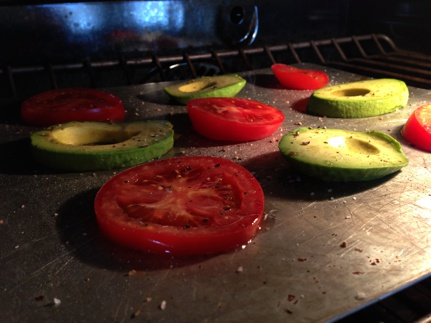 Broiled Tomato and Avocado