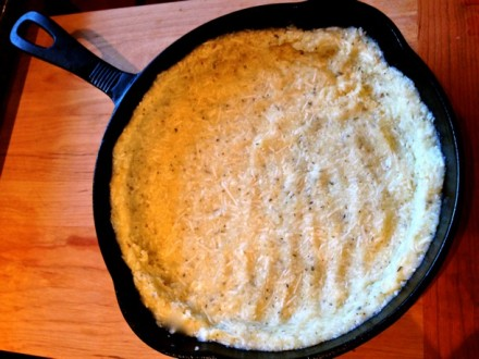 "Form the deep dish crust by molding the mixture a 1/2"" thick up the sides."