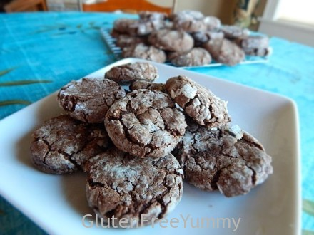 Chocolate-Cardamom Crinkle Cookies