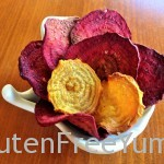 Baked Beet Chips with Sea Salt