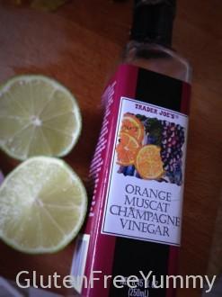 Orange Muscat Champagne vinegar adds a lite citrus flavor.