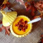 Winter Squash Soup with Chantrelles & Crisp Bacon