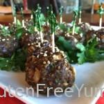 Gluten & Dairy-free Honey-Teriyaki Meatballs
