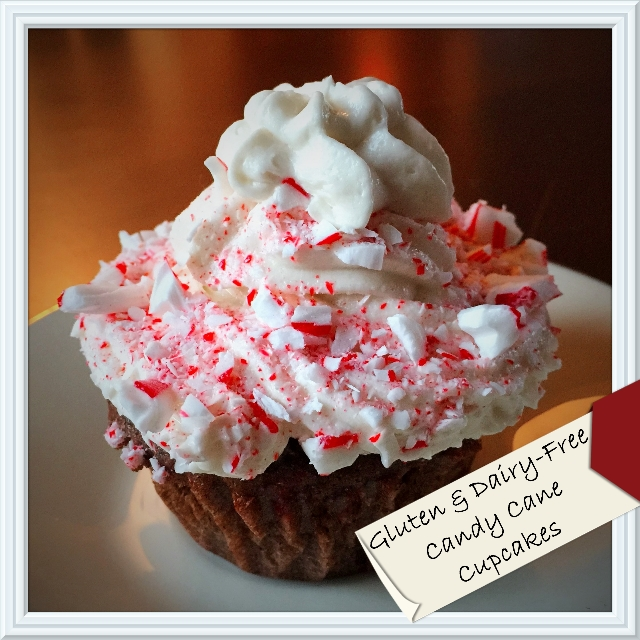 GF-DF Candy Cane Cup Cakes