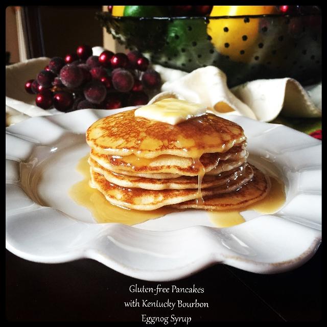 GF Pancake with Eggnog Syrup
