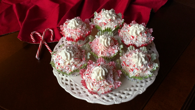 Gluten & Dairy-free Candy Cane Cupcakes