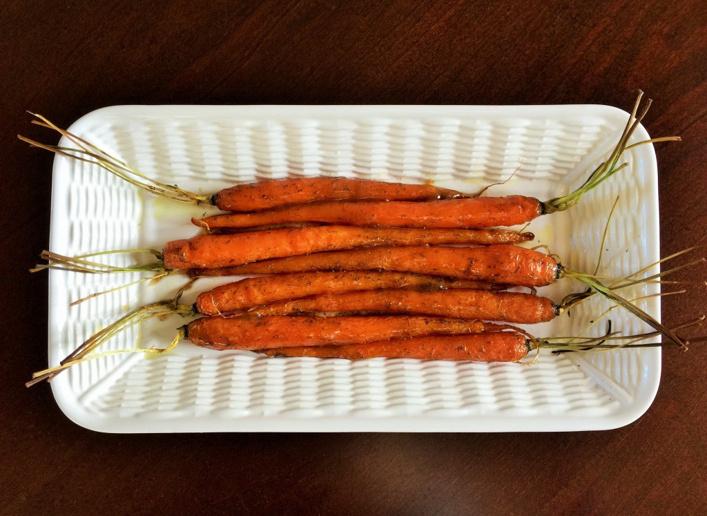 Maple-glazed Carrots with Cumin & Dill
