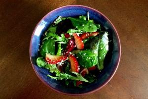 Strawberry & Avocado Salad with Hemp Heart