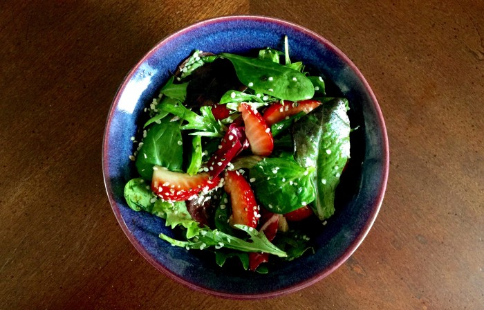 Strawberry & Avocado Salad with Hemp Heart