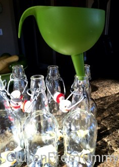 Filling Bottles with Kombucha