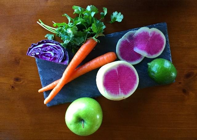 Colorful fruit & veggies