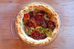 Baked Gluten-free Heirloom Tomato Tart