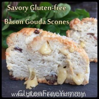 Savory Gluten-free Bacon Gouda Scones