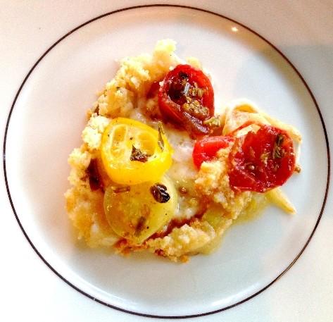 Gluten-free Heirloom Tomato Tart on a Plate