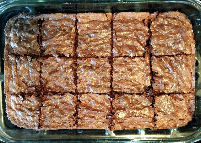 GF-DF Brownies Hot from the oven
