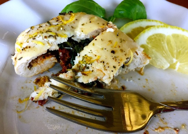 A Bite of Tuscan Herb Stuffed Chicken