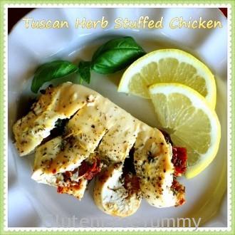 Tuscan Herb Stuffed Chicken