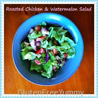 Chicken & Watermelon Salad with Honey-Lime Vinaigrette