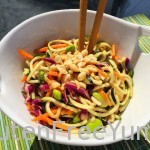 Zoodles in Thai Peanut Sauce