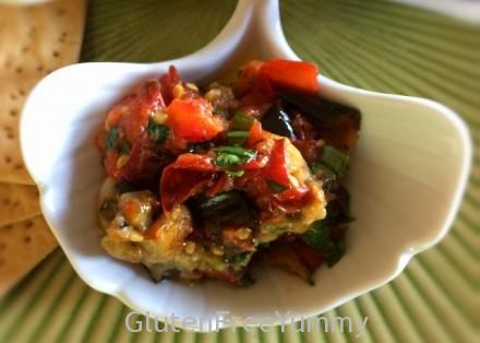 Charred Tomato & Eggplant Bruschetta