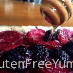 Honey Drizzled Gluten-free Blackberry Plum Tart