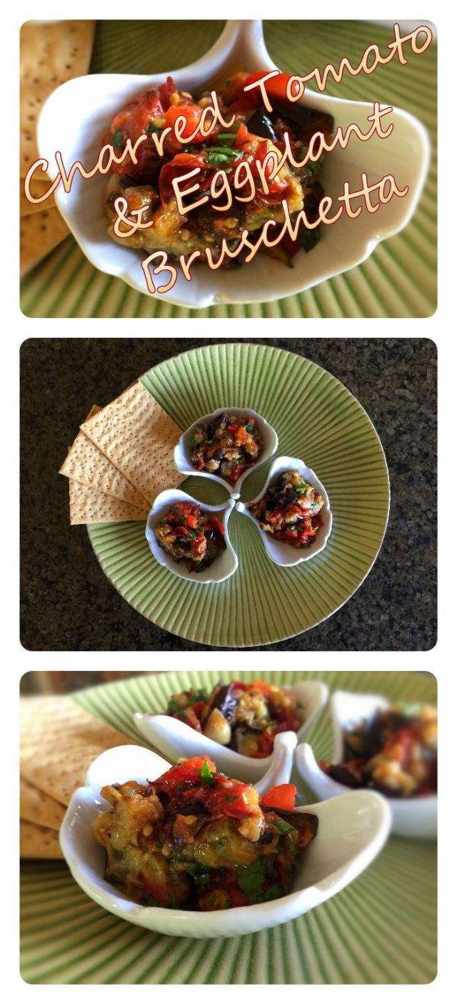 Charred Tomato & Eggplant Bruschetta Pin