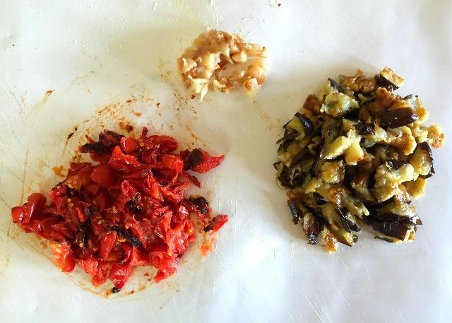 Charred Tomato, Eggplant, and Roasted Garlic