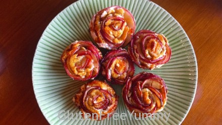 Gluten-free Caramel Apple Rose Tartlets