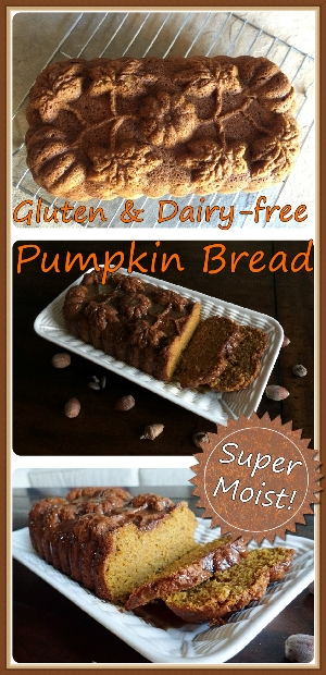 Super Moist GF-DF Pumpkin Bread