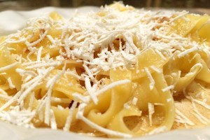Browned Butter & Mizithra Cheese over Gf Noodles