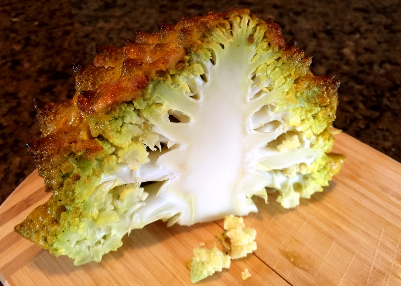 Romanesco Broccoli in Half