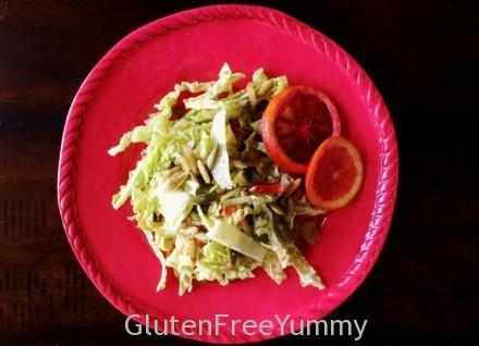 Savoy Blood Orange Salad with Manchego & Pepitas - Gluten Free Yummy!